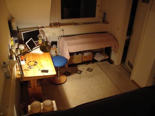 Blick übers Zimmer